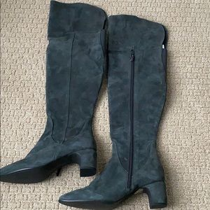 DUO BOOTS Fernworth Gray Over the knee Suede 39